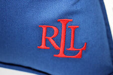 NWT RALPH LAUREN HOME 20x20 Royal Blue Embroidered Red RLL Logo Down Pillow