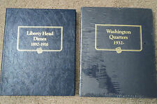 WHITMAN ALBUMS, 1892 LIBERTY HEAD DIMES and 1932 WASHINGTON QUARTERS, NO COINS