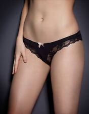 Agent Provocateur JOSELINE OUVERT in BLACK & PINK FRENCH LACE - AP Size 2 - BNWT