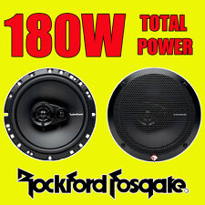 ROCKFORD FOSGATE 3WAY 6.5 INCH 16.5cm CAR DOOR/SHELF COAXIAL SPEAKERS 180W TOTAL