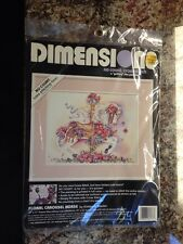 Floral Carousel Horse Kimberly Stenbo No Count Cross Stitch Dimensions 1992 Kit
