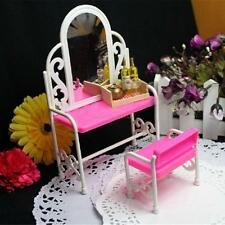 HOT Dressing Table & Chair Accessories Set For Barbies Dolls Bedroom Furniture #