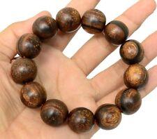 18mm Natural Agarwood (Gaharu buaya) Beads Bracelet