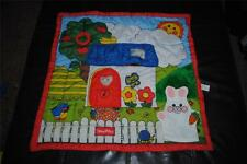 Fisher Price Little People Activity Blanket Vintage 1990 Rattle Bunny Puppet HTF