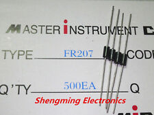 100PCS FR207 2A 1000V Fast recovery diodes