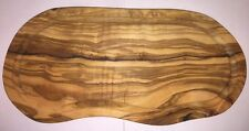 Utopia Solid Olive Wood Chopping Board Rustic Natural Curved Design - Kitchen
