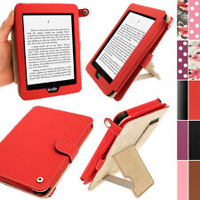 Red PU Leder Tasche Hülle für Amazon Kindle Paperwhite 3G Wi-Fi 2GB Case Cover