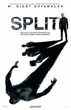 Split movie poster (b) : 11 x 17 inches : James McAvoy, M. Night Shyamalan