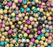 100 Mixte Bijoux Perles Acrylique intercalaires Multicolore 4mm Dia.