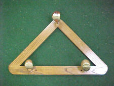 New Custom Solid Oak Wood Frame w Golf Clubs w Brass 3 5 7 Woods Coat / Hat Rack