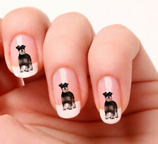 20 Nail Art Stickers Transfers Decals #583 - Dog Miniature Schnauzer
