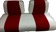 Club Car DS '99 & Dwn Golf Cart Deluxe™ Vinyl Seat Covers-Staple On(White/Vedra)