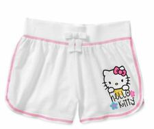 Hello Kitty Girls' Jersey Shorts Size 7/8 in Arctic White  Summer NWT