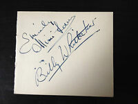 BILLY WHITTAKER & MIMI LAW - FAMOUS ACTING COUPLE - SIGNED VINTAGE PAGE & PHOTOS