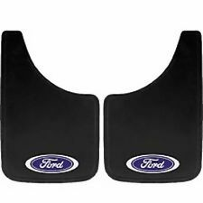2PC FORD OVAL LOGO 9X15 MUD SPLASH GUARDS FLAPS CAR TRUCK SUV NEW FREE SHIPPING