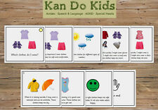 Social Story Cards - Which Clothes Do I Wear (Girl) - Autism