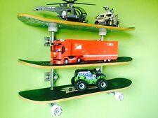 Niños Chicos Habitación Retro Skateboard Estante/estantes de almacenamiento Ultimate triple apilamiento