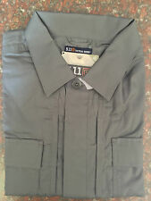 5.11 Tactical Men 71339 Taclite S/S TDU Shirt Hidden Pockets Storm Large (L)