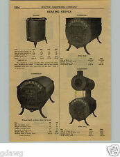 1924 PAPER AD Lumberman Drum Wood Burning Stove Pacific 22 Gauge Steel Camp