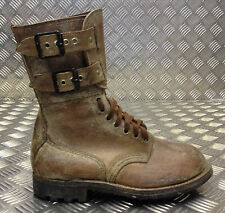 Genuine French Foreign Legion Brown Leather / Suede Army Boots - Size 40 - FB109