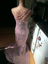 "Rare monsoon pink ""Acapulco silk maxi dress size 10 gc"