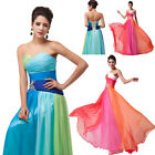 CHEAP!Sexy Strapless Long Chiffon Bridesmaids Ball Gown Evening Prom Party Dress