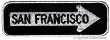 ONE-WAY SIGN PATCH SAN FRANCISCO CALIFORNIA EMBROIDERED iron-on EMBLEM APPLIQUE