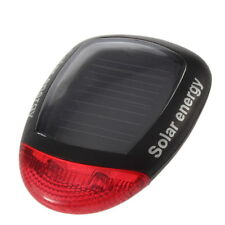 Solar Power Bike Bicycle LED Cycling Tail Rear Red Light Lamp Taillight  #C