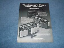 "1978 Panasonic AM/FM Radio Stereo Vintage Ad ""When It Comes to 8-Track ...."""