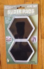 "4 FURNITURE SLIDER PADS MOVERS FLOOR PROTECTOR 4"" FOR CARPET TILE WOOD MAGIC"