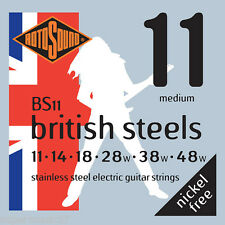 Rotosound BS11 British Stainless Steel Electric Guitar Strings 11-48 Medium