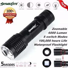 Sky Wolf Eye 4000LM CREE XML T6 LED Taschenlampen Tactical Torch Zoom Lamp Licht