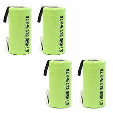 4 pcs 2/3 AA 2/3AA 800mAh NiMH 1.2V Rechargeable Battery with tab Green US Stock