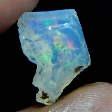 3.40 Cts natural multi flash unheated Ethiopian fire opal rough specimen khad
