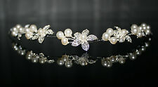 Bridal Hair Accessories Art Pearl Crystals Wedding Communion Headdress Type 7