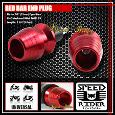 2 X RED CNC PRO 7/8'' 22mm BIKE BICYCLE SWING HANDLEBAR GRIP CAP BAR END PLUG