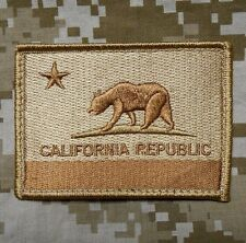 CALIFORNIA STATE FLAG TACTICAL REPUBLIC USA MILITARY MORALE DESERT HOOK PATCH