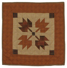 "AUTUMN LEAVES QUILT BLOCK WALLHANGING ~ TABLE MAT NO TEA DYE 18""X18"""
