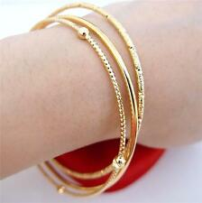 pretty 1 Set 24K Yellow Gold Filled 65*65MM Deluxe Bangle Bracelet Set FB1118