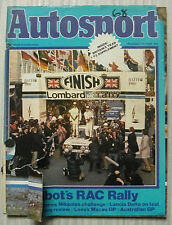 SUNBEAM TALBOT LOTUS in RAC RALLY AUTOSPORT Magazine 27 Nov 1980