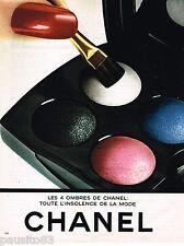 PUBLICITE ADVERTISING 055  1983  CHANEL  cosmétiques les 4 ombres