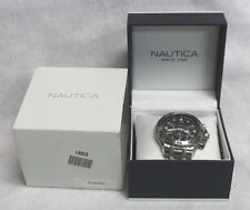 NAUTICA N19508G 100M STAINLESS STEEL TACHYMETER WRISTWATCH IN BOX