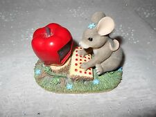"""""""Charming Tails"""" resin """"Maxine goes online"""" figurine for the mouse collector"""