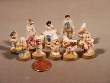 Porcelain Miniatures Snow White and the 7 Dwarfs Anniversary Set French Feves