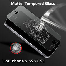 100% REAL Matte Touch Tempered Glass Screen Protector Film For iPhone 5 5S 5C SE