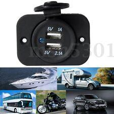 12V Car Motorcycle Dual USB Adapter Cigarette Lighter Socket Power Plug outlet