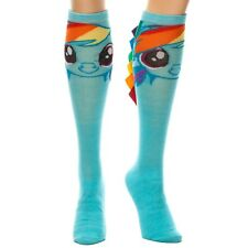 Official Colourful Funky Rainbow Dash Knee High Socks with Hair - My Little Pony