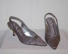 Nina Slingback Light Cocoa 6 1/2 6.5 M Women's Pump Heels Dress Shoes SH6 *NEW*
