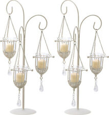 "2 Ivory Candelabra Candle Holder Table Decor Wedding Centerpieces 20"" Tall New"