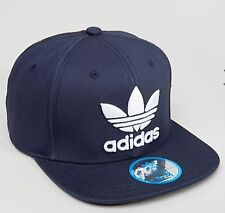 NEW ADIDAS ORIGINALS TREFOIL TRUCKER CAP BASEBALL HAT BLUE MEN WOMEN SNAP BACK